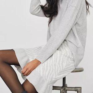 Anthropologie Dolan Zebra Knit Mini Skirt - XL NWT